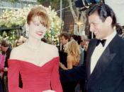 Geena Davis und Jeff Goldblum, 1990