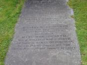 Photograph of the gravestone of William Wordsworth, Grasmere, Cumbria, England