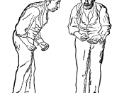 Illustration of the Parkinson disease by Sir William Richard Gowers from A Manual of Diseases of the Nervous System in 1886 showing the characteristic posture of PD patients