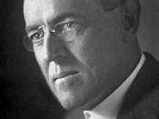 Woodrow Wilson, Nobel Peace Prize laureat 1919, portrait used on the today Nobelprize website.