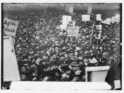 Socialists in Union Square, N.Y.C. [large crowd]  Photo, 1 May 1912 - Bain Coll.  (LOC)