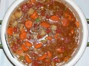 A nice beef stew for dinner.