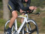 English: Cyclist Lance Armstrong at the 2008 Tour de Gruene Individual Time Trial, 1 November 2008