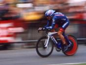 Lance Armstrong in the prologue of the Tour de France in July 2004 in Liege, Belgium