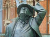 Statue of John Betjeman at St Pancras station in London