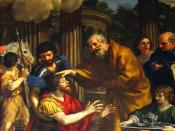 English: Ananias restoring the sight of Saint Paul