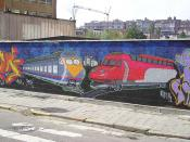 Train-graffiti