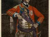 English: This is a color mezzotint of General Sir William Howe, 5th Viscount Howe, active in the American Revolutionary War.