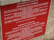 Dual-language notice, Gibraltar Coach Terminal, Gibraltar
