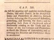 Newspaper posting of Stamp Act