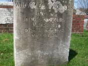 English: Grave of American novelist William Dean Howells in Cambridge Cemetery in Cambridge, Massachusetts.