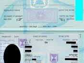 Israeli passport personal-information page