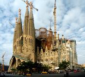 La Sagrada Familia by Antoni Gaudi (1852-1926)