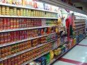 A supermarket's pet food aisle in Brooklyn, New York