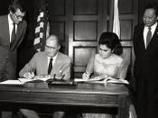 Malcolm Baldrige with Imelda Marcos