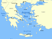 Map of the Sea of Crete