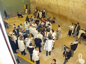 Bar Mitzvah celebrated inside the Western Wall tunnel in Jerusalem