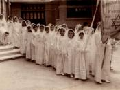 Egyptian Alexandria Jewish girls during Bat Mitzva