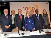 English: U.S. Secretary of State Hillary Rodham Clinton participates in the event on reducing child undernutrition,