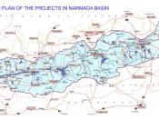 English: Plan of Water Resources schemes in the narmada Basin