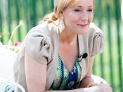 English: J.K. Rowling reads from Harry Potter and the Sorcerer's Stone at the Easter Egg Roll at White House