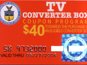 An example of the NTIA converter box $40 subsidy