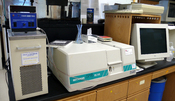 English: Temperature-controlled Beckman DU640 spectrophotometer