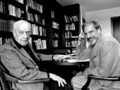 Saul Bellow and Keith Botsford in 1990's, at Boston University.