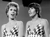 Publicity photo of Carol Burnett and singer Helen Reddy from The Carol Burnett Show.