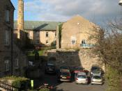 English: Black Sheep Brewery The small town of Masham is something of a beer drinkers paradise with both the Black Sheep and Theakston breweries. Bistro and visitor centre within this building.