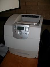 English: T644 laser printer.