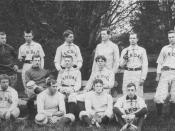 Gallaudet University baseball team (then: National Deaf-Mute College), 1886.