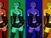 .+*Cipher*+. Mini-Dress ++Show Girl++