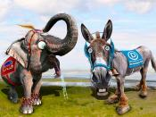 Democratic Donkey & Republican Elephant - Caricatures