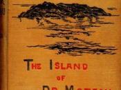 English: First edition (in London by Heinemann in 1896) cover of The Island of Doctor Moreau by H. G. Wells. Česky: Obálka prvního vydání knihy Ostrov Doktora Moreaua. Herbert George Wells. Vydal Heinemann, Londýn, 1896.
