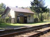 Česky: Železniční zastávka Vladek na trati Rumburk - Dolní Poustevna