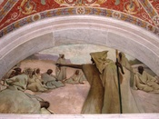 English: Thomas Jefferson Building, Library of Congress, Washington, DC, USA. Painting by John White Alexander: Oral Tradition