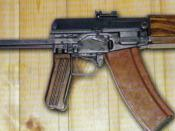 English: AG-043 Soviet compact fully automatic assault rifle chambered for the 5.45 x 39 mm round, developed in 1975