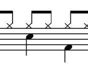Simple (quad)duple drum pattern: divides two beats into two About this sound Play ( help · info )