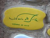Italiano: Piastrella del Muretto di Alassio autografata da Vittorio De Sica