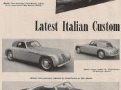 1947 Italian Cars
