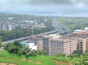 CBD Belapur flyover, CGO, RBI and CIDCO offices on right side