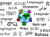 English: Language of the world.