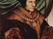 Sir Thomas More wearing the Collar of Esses as Lord Chancellor, by Hans Holbein the Younger (1527).