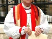 Bishop Gene Robinson of New Hampshire at Trinity Church, Columbus, Ohio, on June 16, 2006, during the 75th General Convention of the Episcopal Church. Image cropped and color adjusted by Angr.