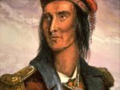 This 1848 drawing of the famous Chief Tecumseh was based on a sketch made in 1808.