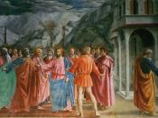 English: The Tribute Money by Masaccio.