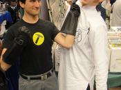 Long Beach Comic Expo 2011 - Captain Hammer wrangles Dr Horrible