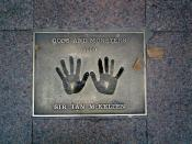 the hands of Sir Ian McKellen in the 1999 Gods and Monsters plaque
