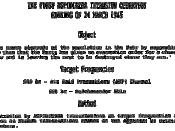 English: The First Aspidistra Intrusion Operation - op order from WWII. Français : La première commande d'intrusion effectuée par Aspidistra, ordre émis pendant la Seconde Guerre mondiale.